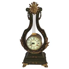 "19th Century  German wood clock frame 14"" H"