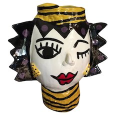 "Art Pottery Vase by J Babroff 12"" High"