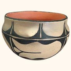 "Santa Domingo Pueblo Pottery Vase Signed 7 "" diameter"