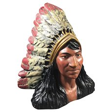 "Native American Chalk Match Striker 8 "" high"