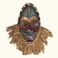 """African Dan/Style Carved Wood Mask 16"""" High"""