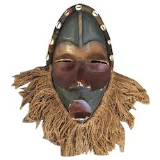 "African Dan/Style Carved Wood Mask 16"" High"