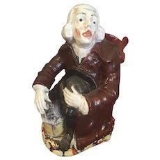 "Antique Staffordshire Pitcher/Jug 9  1/2 "" High"