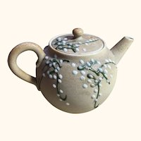 "Japanese Meiji Period Moriage Tea Pot 4 "" Diameter"