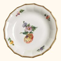 "Floral Soup Bowl  from Royal Copenhagen   10  1/4"" diameter"