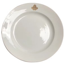 "19th Century Sarreguemines Porcelain Charger/Platter 14"" D"