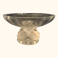 Stunning Lalique Crystal Nogent Bird Bowl by Marc Lalique