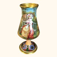"""Limoges 19th Century Hand Painted  Vase 5  1/4"""""""