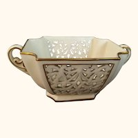 Worcester Grainger Reticulated Sugar Bowl