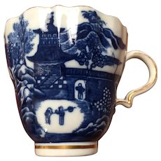 18th Century Caughley Solopian Coffee Cup