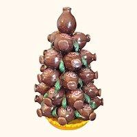 "Kangxi Style Pomegranate Fruit Tree 9  1/2"" High"