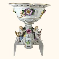 "Von Schierholz Porcelain Compote 8 "" tall"