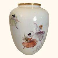 Rosenthal Ballet Dancer Vase 8  1/2 Inches tall