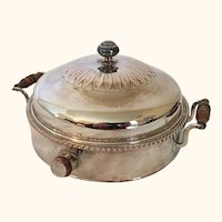 "Early 19th Century Sheffield Plated Warmer 6  3/4 "" diameter"