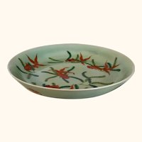 "Five Fish and Three Bat Bowl /Plate 9  1/4"" Diameter"