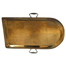 """Russian Brass Samovar Tray   17  1/2"""" Long"""