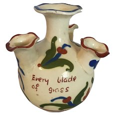 "Torquay Ware Motto Bud Vase  5 "" tall"