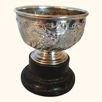 "English Britannia Metal Repose Rose Bowl  Circa 1870  6"" Diameter"