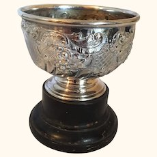 "English Britannia Metal Repose Rose Bowl  Circa 1870  6"" Diameter"