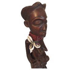 """African Maternity Statuette from Angola 10  3/4"""" tall"""