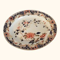 "19th Century George Jones Platter  17 1/2"" long"