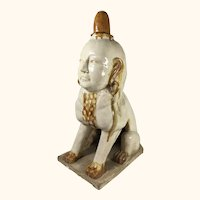 """Chinese Pottery Foo Dog 19"""" tall"""