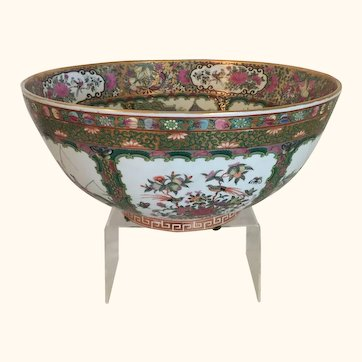 """Exquisite Enameled Bowl from China  14"""" Diameter"""