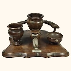 "Treen Cigar and Tobacco Smoking Stand 11"" x11"""