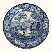 "Early 19th Century Blue Willow Plate 10"" D"