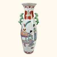 """Antique Japanese Kakiemon Style Vase  10"""" tall"""