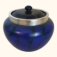 "London Art Pottery Biscuit Jar 6"" diameter"