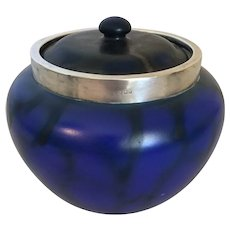 "London Art Pottery Biscuit Jar 6"" diameter"