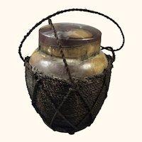 "Old Chinese Tea Caddy  Jar 6  1/2"" high"