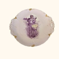 "Sevres Lovers Plate  11  1/2"" diameter"