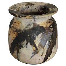 "Art Pottery Splash Decorated Jar  5  1/2"" high"