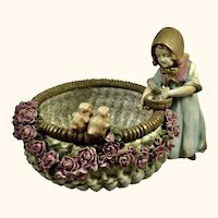 """Austrian Pottery Bowl marked Amphora/Teplitz 10"""" D"""