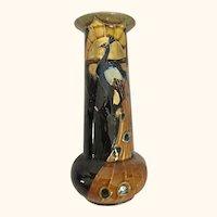 """English Art Nouveau Phoenix Vase 8"""" Tall"""