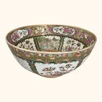 "Chinese Export Rose Medallion Bowl  14"" diameter"