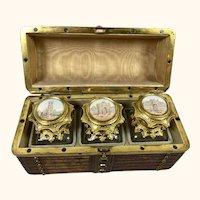 "C 1860 Baccarat Style  Perfume Box 6 "" Long"