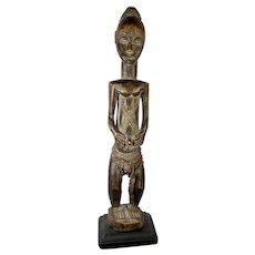 "African Baule Female Figure Ivory Coast 15  1/2 "" Tall"