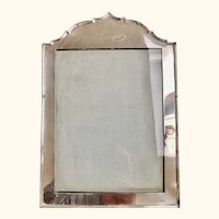 """English Sterling Silver Frame C 1927  11"""" Tall"""