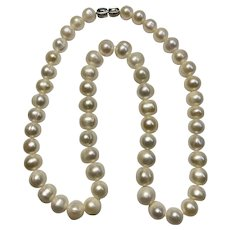 """Cultured Pearl Necklace  or Choker 17"""" Length"""