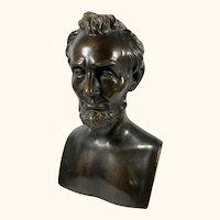 "Abraham Lincoln Armor Clad Bronze Sculpture 11 "" High"