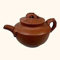 "Yixing Pottery Tea Pot  6 "" long"
