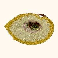 "Large Majolica Leaf Tray or Platter 12"" long"