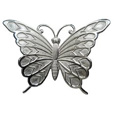 Beau Sterling Silver Butterfly Pin