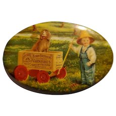Berry Brothers Varnishes Antique Advertising Pocket Mirror