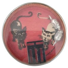 Old Cat & Mouse Pocket Dexterity Game & Mirror