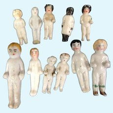 Frozen Charlotte Lot of Tiny Miniature Dolls