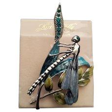 Vintage Kirks Folly Dragonfly Brooch Pin - Enamel